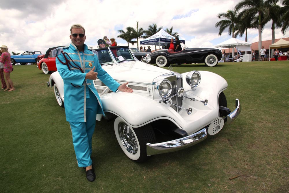 Kevin Hutchings and his Sgt. Pepper-inspired Excalibur roadster