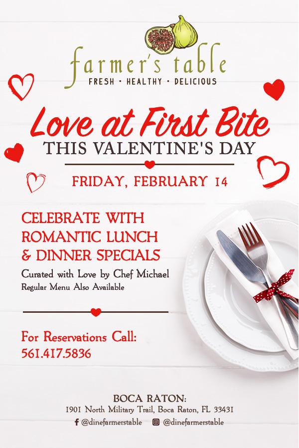 Valentine's Day at Farmer's Table Boca Raton!
