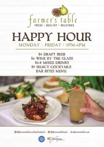 Happy Hour at Farmer's Table North Palm Beach!