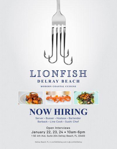 Lionfish Delray Hiring Fair!