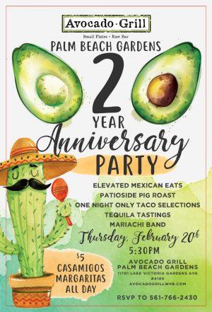 Avocado Grill Palm Beach Gardens 2 Year Anniversary Party