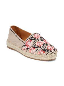 Prada floral-embroidered espadrilles