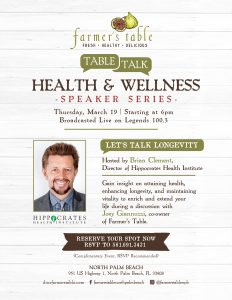 Farmer's Table Health & Wellness Talk with host Brian Clement!