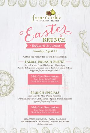 Celebrate Easter at Farmer's Table Boca