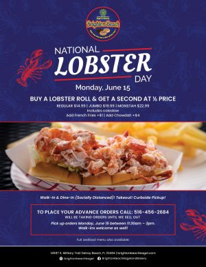 Indulge in National Lobster Day at Brighton Beach Bagel and Bakery!