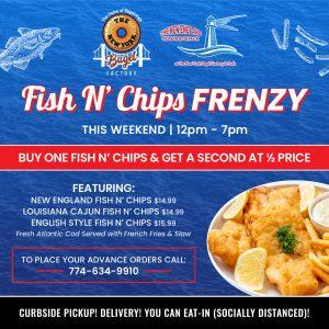 Fish N' Chips Frenzy at NY Bagel Factory!