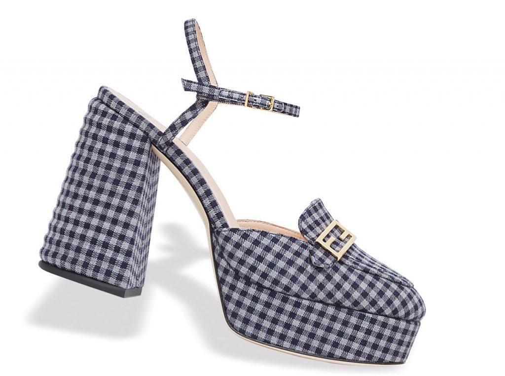 Fendi Checkered Promenade loafers
