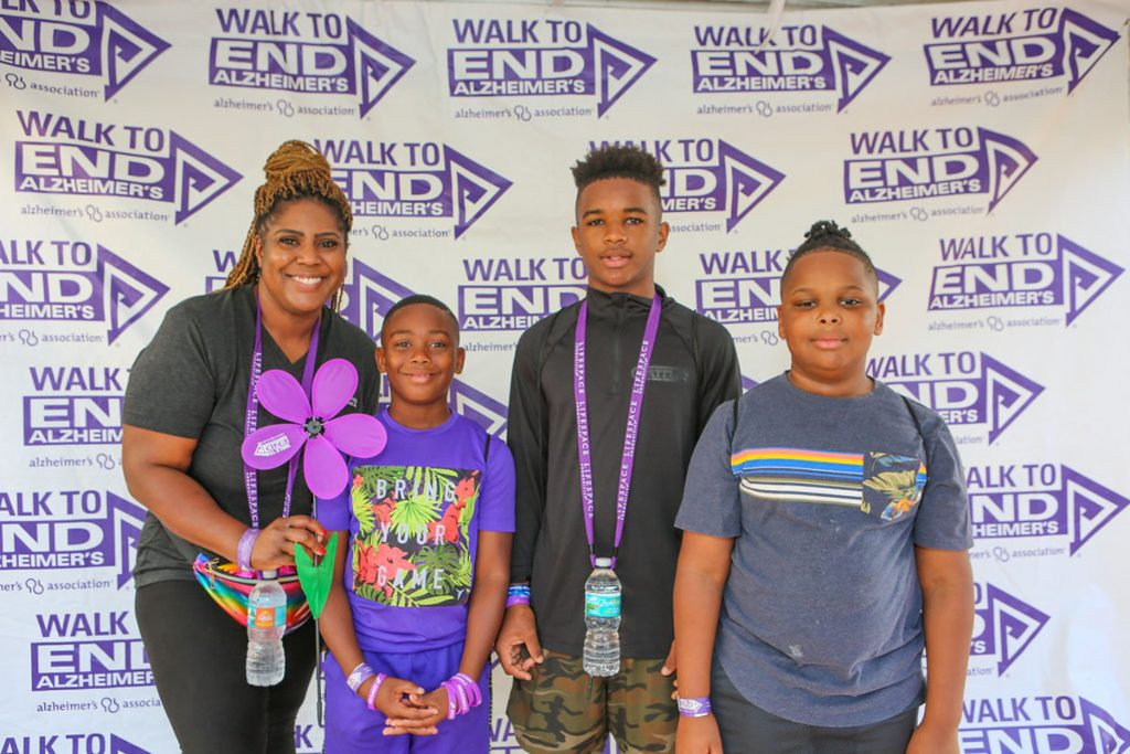 A Boca Raton family participates in the 2019 Walk to End Alzheimer's