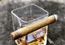 whiskey glass + cigar holder