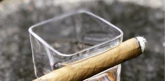whiskey glass + cigar holder