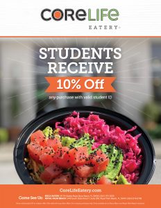 Student Discount at CoreLife Eatery