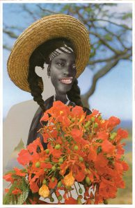 Joiri Minaya, Ayoowiri or Girl with poinciana flowers, 2020, Archival pigment print on Hahnemuhle FineArt Pearl paper, 11 x 17