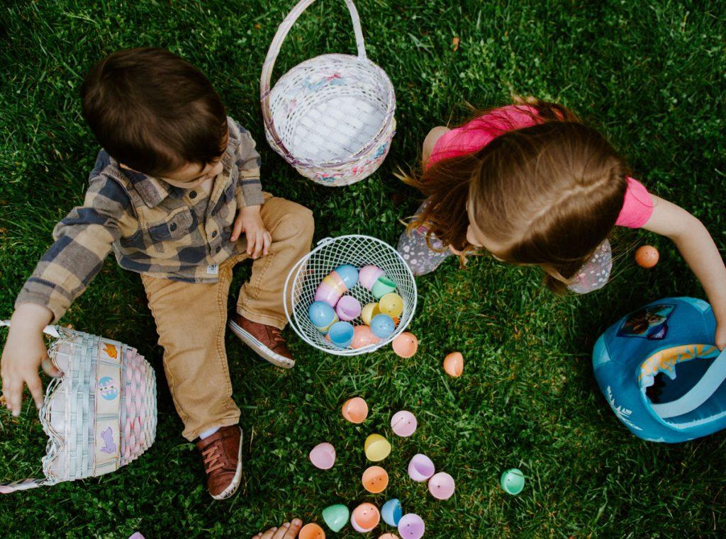 Kids enjoying an Easter egg hunt Photo by Gabe Pierce, via Unsplash
