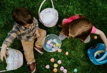 Kids enjoying an Easter egg hunt Photo by Gabe Pierce, via Unsplash