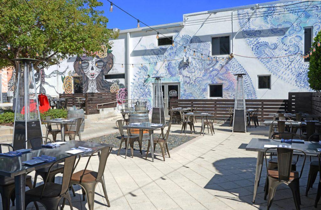 Fern Street Wine Bar & Kitchen's outdoor mural area will host Lunch Break, photo by Alissa Dragun