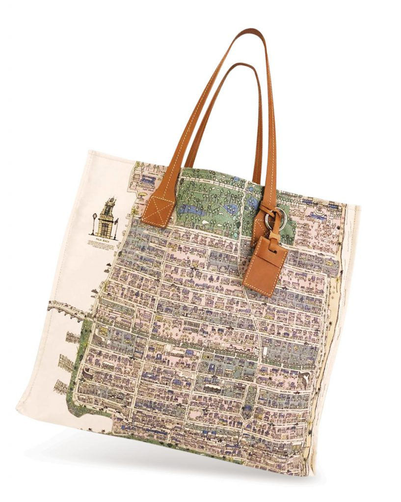 Grocery shopping doesn't get chicer than this Rani Arabella canvas tote ($595) with hometown pride. The Royal Poinciana Plaza, Palm Beach (raniarabella.com)