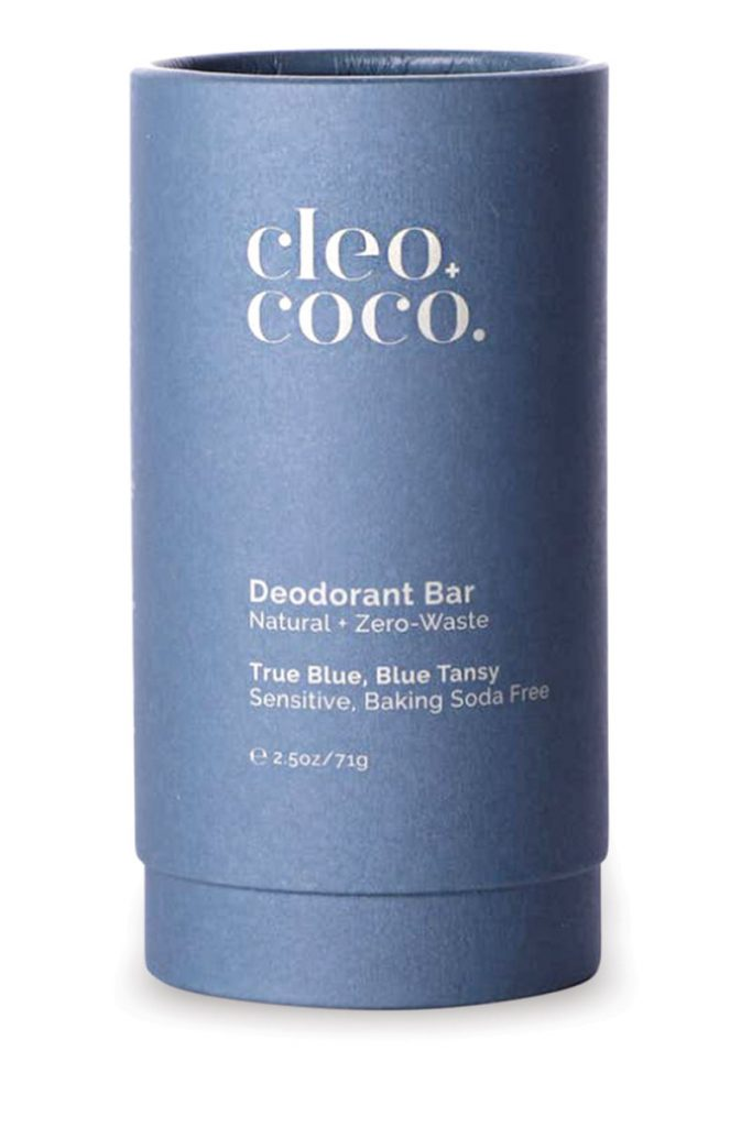 Instead of plastic, Cleo + Coco natural deodorant bars ($18) are encased in waste-free wax molds. Jar the Zero Waste Shop, Stuart (jarzerowaste.com)