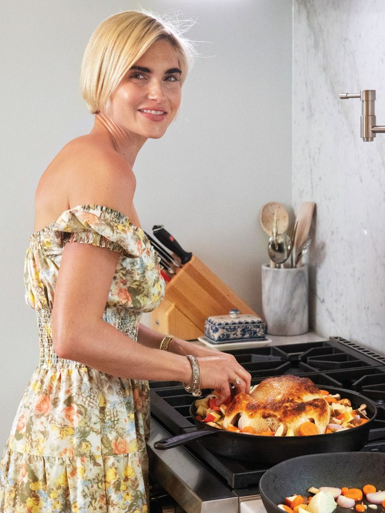 Ivey whips up her whole roasted chicken. Photography by Kent Anderson