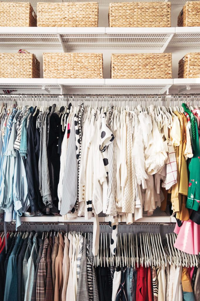 Minizming the closet, Photo by Chelsae Anne Photography