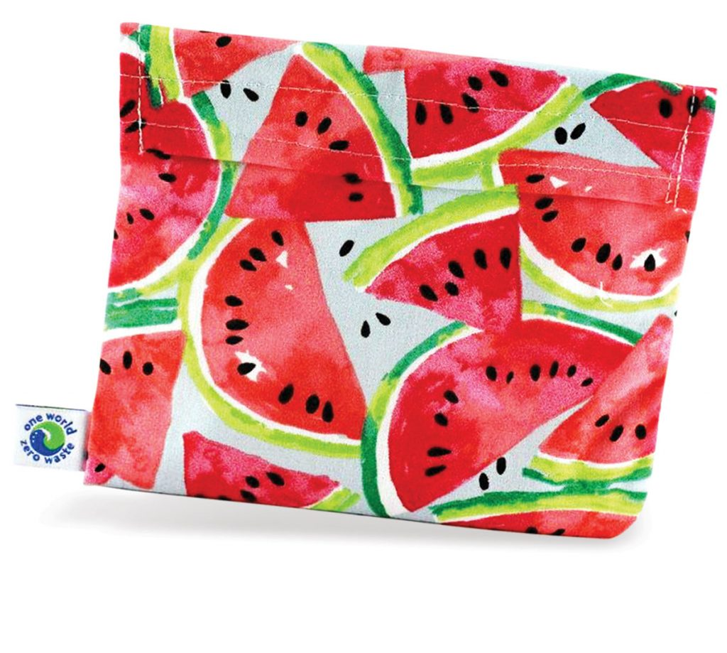 These cloth food storage bags ($31.75 for three), also by One World Zero Waste, are machine-washable and Velcro shut to keep snacks and sandwiches fresh. (oneworld-zerowaste.com)