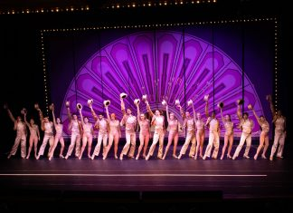 Stills from the 2020 staging of A Chorus Line at The Wick Theatre.