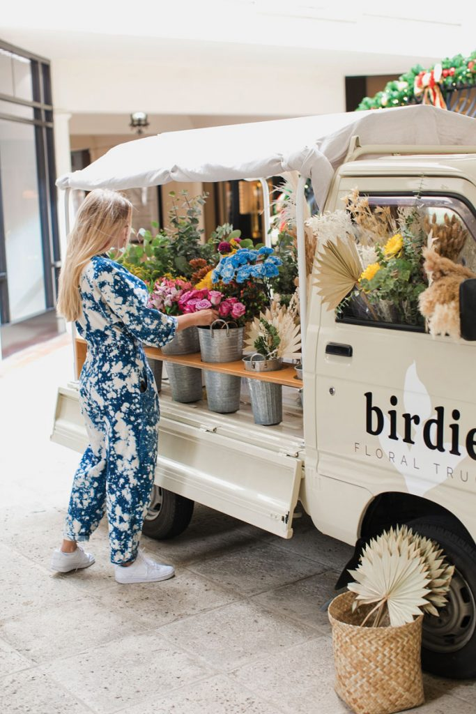Birdie Floral Truck stocks fresh and dried flowers and stems, pampas grass, and other unique items. Photo by Eve Greendale Photography, @palmbeachcreative