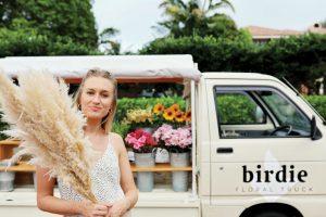 Cecelia Feathers of Birdie Floral Truck