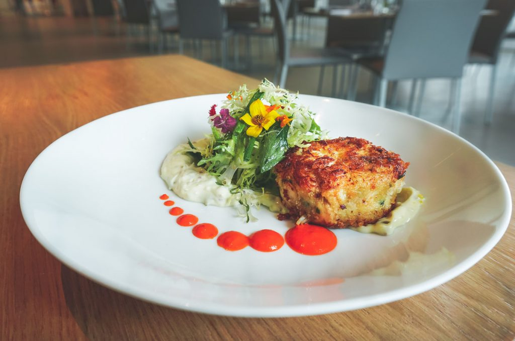 Crab Cake Mother's Day special at The Restaurant at The Norton