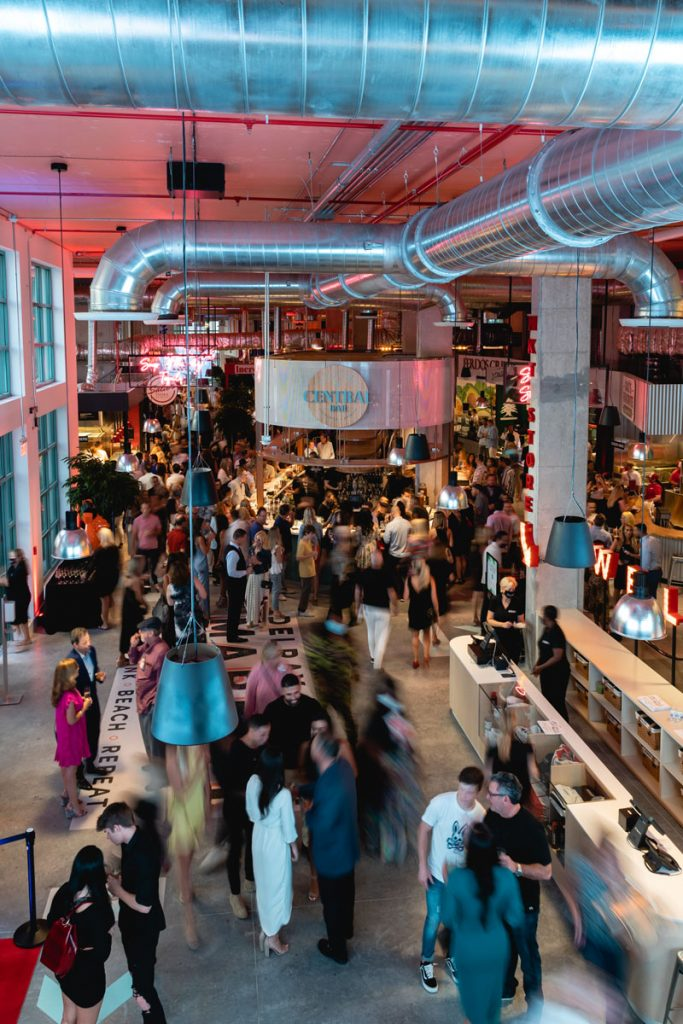 Delray Beach Market atmosphere shot on April 23, day after opening