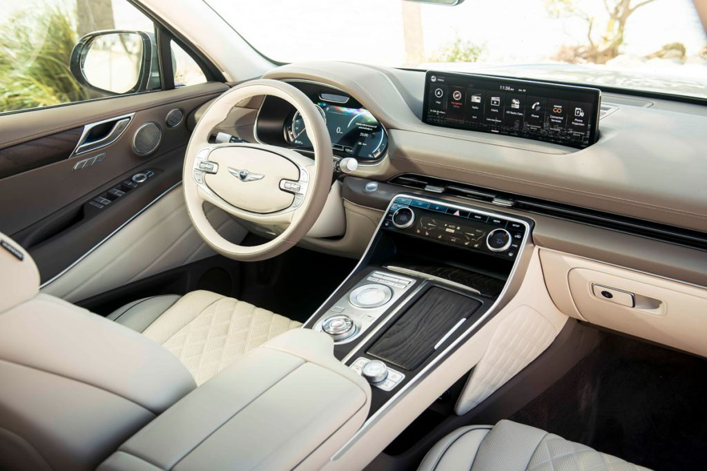 Genesis GV80, dashboard and controls