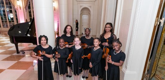 Members of the Building a String Orchestra and Self-Esteem program played a 2020 concert prior to the pandemic.