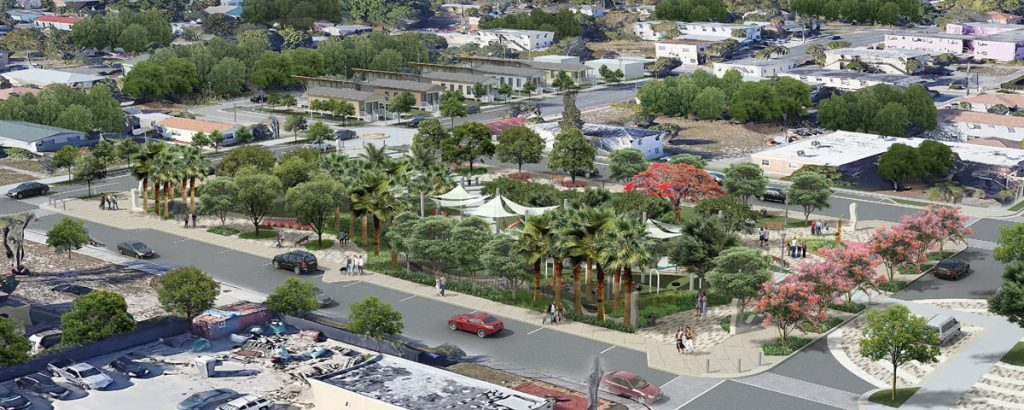Rendering of Heart & Soul Park, as seen from above, courtesy of WPB CRA