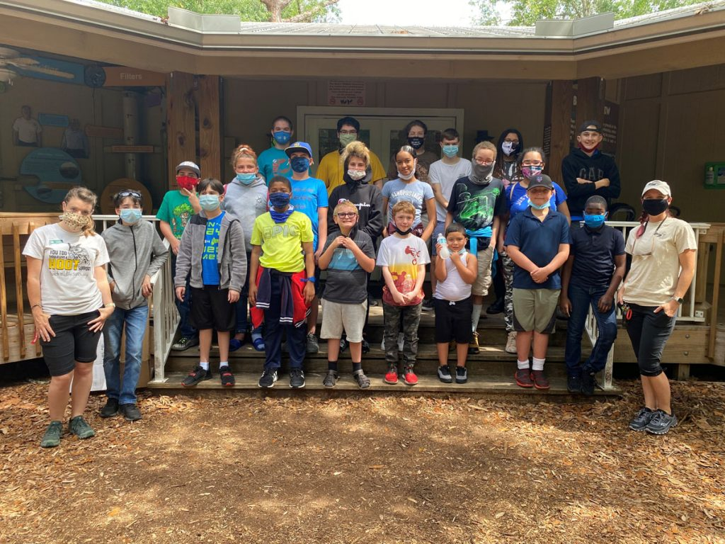 Students from The Open Doorway visited Busch Wildlife Sanctuary.