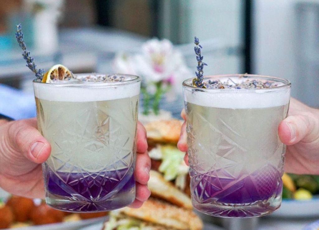Young Lavender cocktail at Sassafras. Photo courtesy of Sassafras