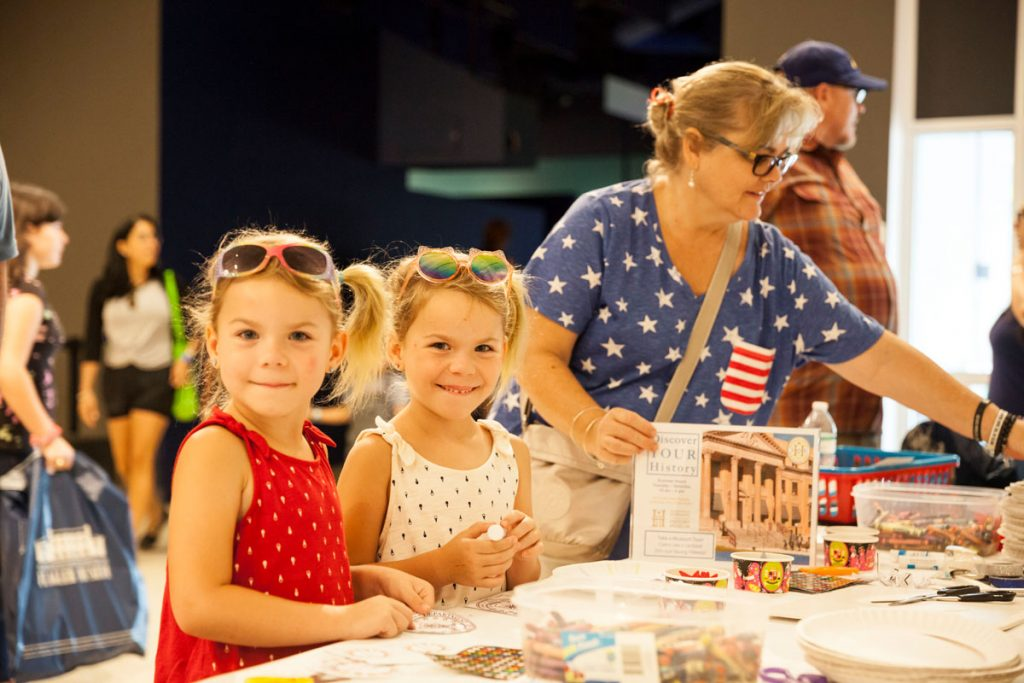Fourth of July festivities. Photos courtesy of the South Florida Science Center & Aquarium
