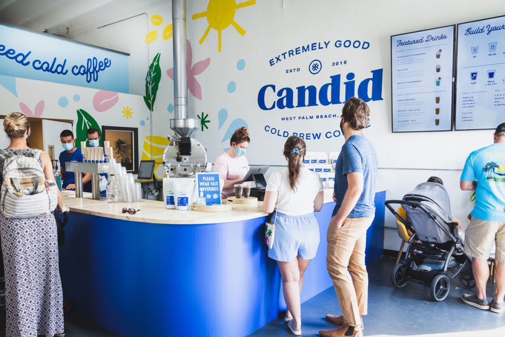 Candid Coffee Tap Room in the West Palm Beach Warehouse District.<br/> Photo by AR Design
