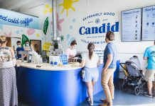 Candid Coffee Tap Room in the West Palm Beach Warehouse District. Photo by AR Design