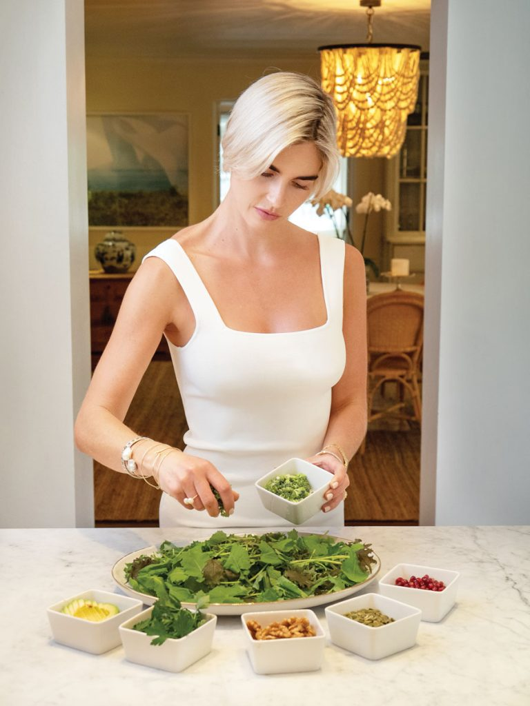 Ivey puts her Anti-Inflammatory salad together, photo by Kent Anderson