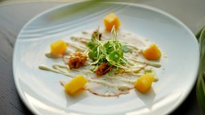 Lobster carpaccio will be served at Meat Market Palm Beach's Wine Dinner