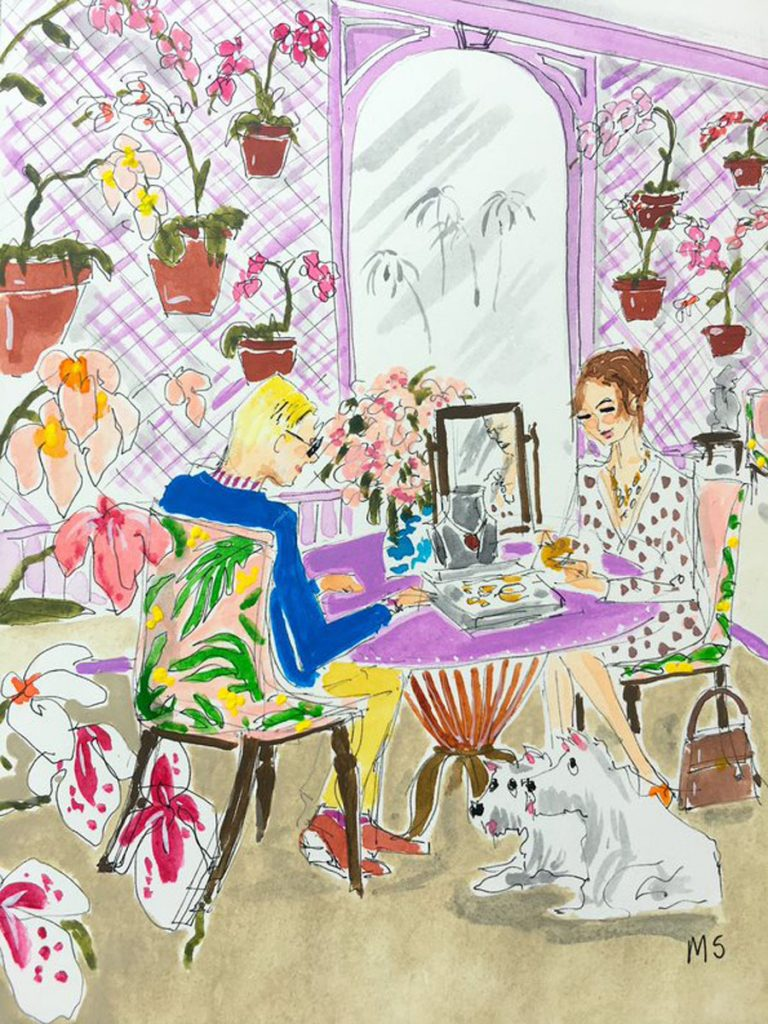 Rendering of Mish Tworkowski's Palm Beach viewing salon and design studio