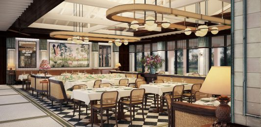 Rendering of The Flamingo Grill at Boca Raton Resort & Club. Courtesy of Major Food Group