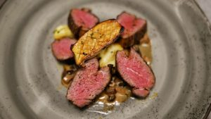 Wagyu shoulder tenderloin will be served at Meat Market Palm Beach's Wine Dinner on June 16