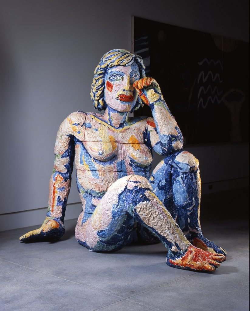 """Weeping Woman by Viola Frey will be on view in the Norton Museum of Art's new exhibition, """"For the Record: Celebrating Art by Women."""""""