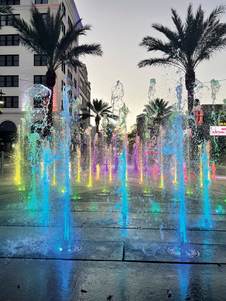 Clematis by Light, Centennial Fountian, Courtesy of the City of West Palm Beach