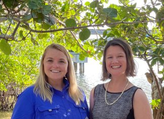 Erin Cover, director of Education, and Veronica Frehm, Executive Director of Friends of MacArthur Beach State Park.