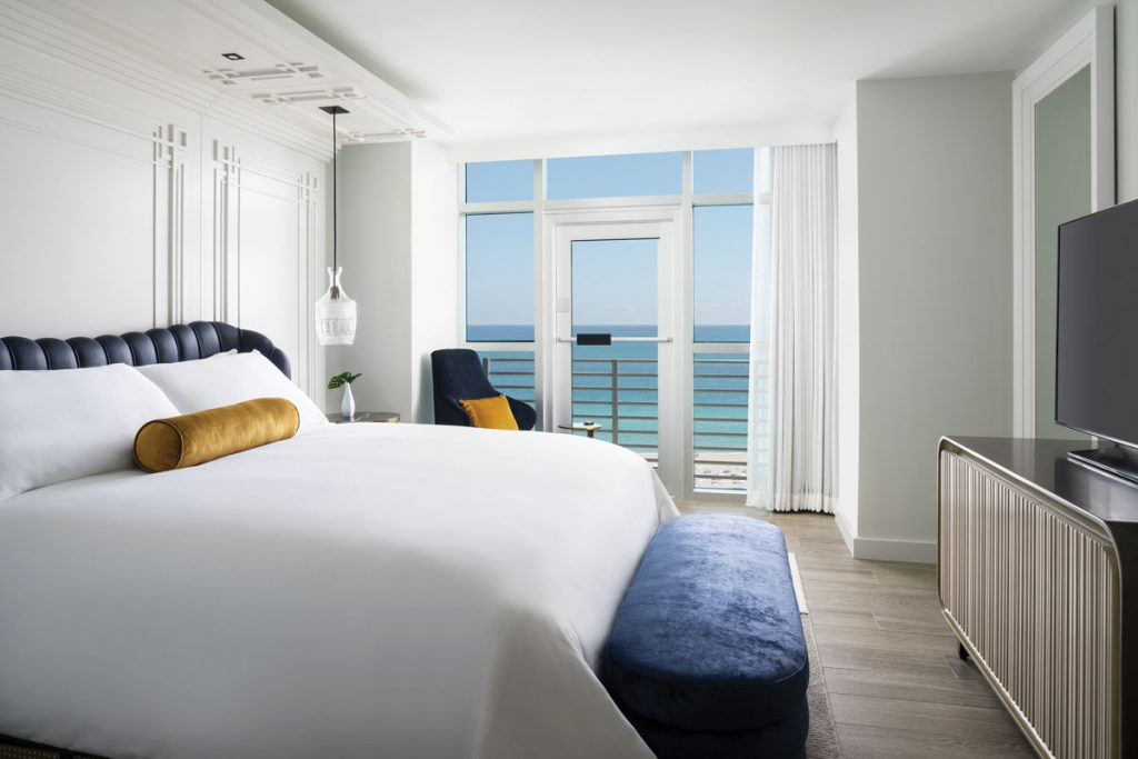 Oceanfront Suite Bedroom at The Ritz Carlton, South Beach