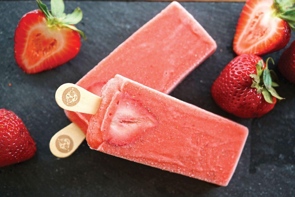 Strawberry paleta, Morelia Gourmet Paletas