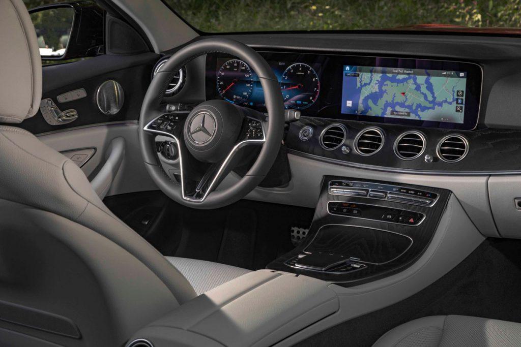 2021 Merc E450 4Matic All-Terrain dashboard and steering wheel