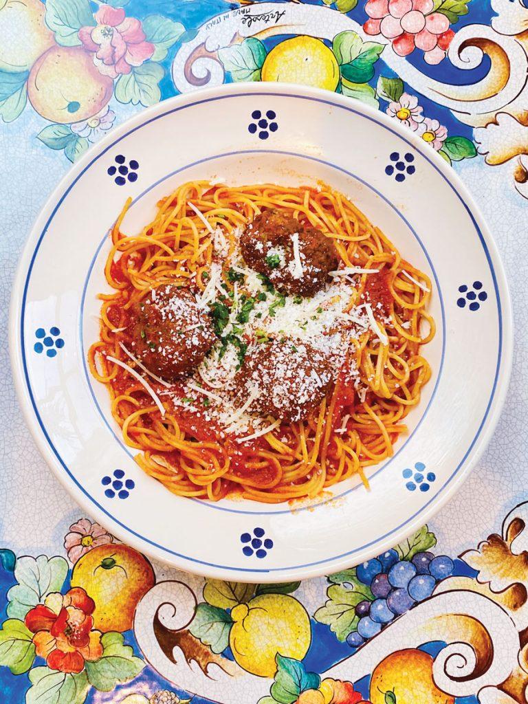 Spaghetti con Polpette. Photo courtesy Santo Stefano