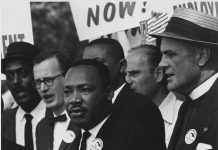 Civil Rights March on Washington, D.C. [Dr. Martin Luther King, Jr. and Mathew Ahmann in a crowd, August 28, 1963
